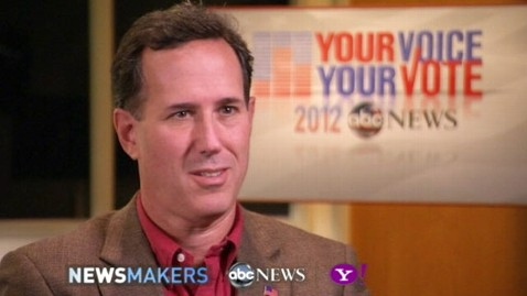 abc rick santorum interview thg 111108 wblog Santorum Tells ABC News A Win in Iowa Is Not the Culmination, Its the Start