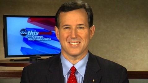 abc rick santorum nt 120212 wblog Rick Santorum Says Mitt Romney Is Desperate; GOP Contest Will Be Two Person Race By March