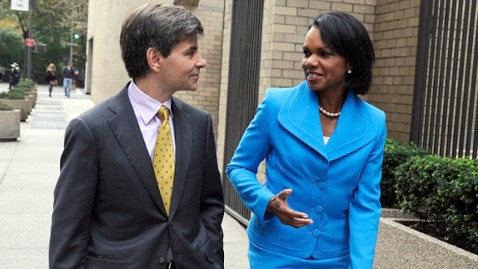 abc stephanopoulos rice wy 111101 wblog Condoleezza Rices Retrospect on Iraq: We Could Have Done Better