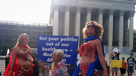 abc supreme court belly dancers jp 120628 wblog Outside Supreme Court, Belly Dancers and Duels