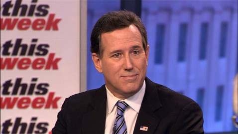 abc this week rick santorum jt 130120 wblog Rick Santorum: President Obama a Sore Winner