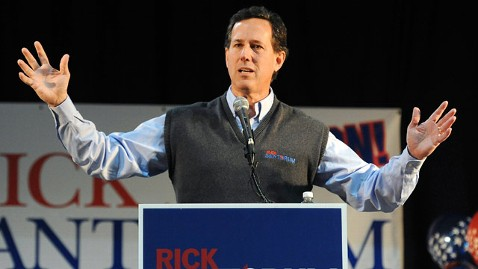 ap Rick Santorum jt 120205 wblog Rick Santorum Mixes Football and Faith on the Campaign Trail