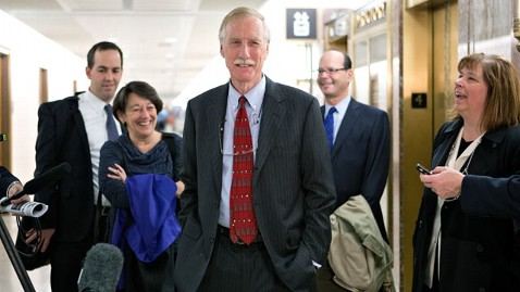 ap angus king dm 121113 wblog Maines Angus King to Caucus With Senate Democrats