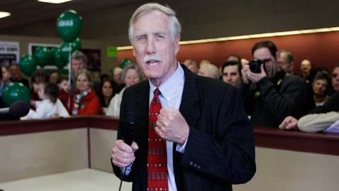 ap angus king thg 120613 wblog Maine Senate Race Scrambled by Strong Independent Candidate