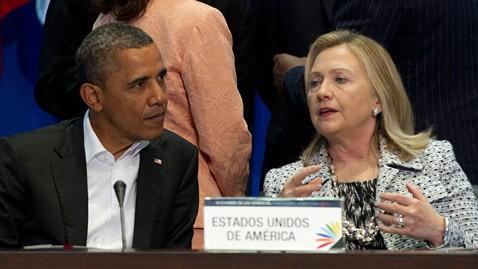ap barack obama hillary clinton ll 120514 wblog President Obama Prepares for Cabinet Shuffle