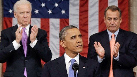 ap barack obama joe biden john boehner 3 ll 130212 wblog President Obama Hits Emotional High Note on Guns, not Jobs