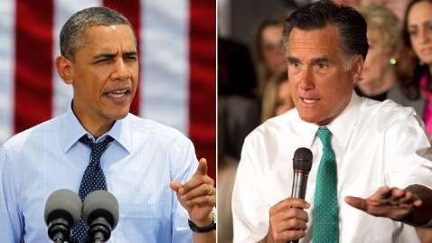 ap barack obama mitt romney ll 120416 wblog Romney Rebounds Among Women, While Obamas Favorability Slips