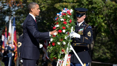 ap barack obama veterans day jt 121111 wblog President Obama Marks Veterans Day at Arlington National Cemetery