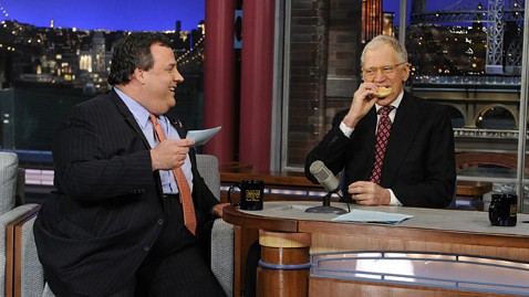 ap chris christie david letterman ll 130205 wblog After TV Fat Jokes, Gov. Christie Expands on Weight Struggle