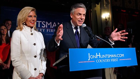 ap huntsman nh speech tk 120110 wblog Vanishing Huntsman Is Not a Surrogate for Romney