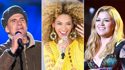 ap james taylor beyonce kelly clarkson nt 130109 wblog Inauguration Weekend: A Star Powered Lineup