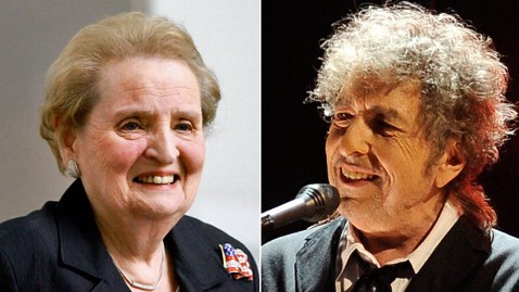ap madeleine albright bob dylan ll 120529 wblog Obama to Honor Political and Cultural Icons With Medal of Freedom