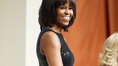 ap michelle obama inugural reception dress mn thg 130121 wblog Michelle Obama Jokes About Bangs, Mid Life Crisis