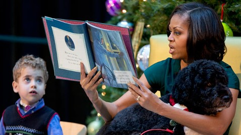 ap michelle obama jp 121214 wblog First Lady Visits Childrens Hospital, First Dog in Tow