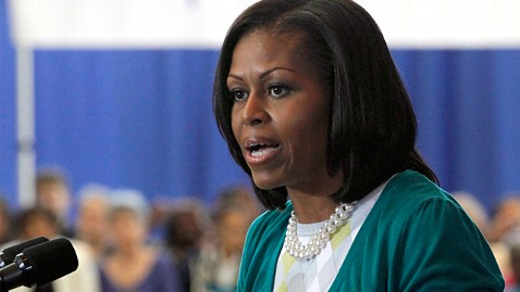 ap michelle obama ll 120606 wblog Michelle Obama Sees Long, Hard Campaign With Twists and Turns