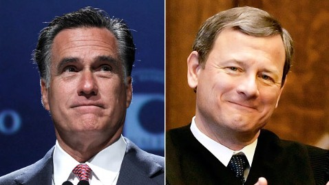 ap mitt roberts split mr 120705 wblog Romney Hits Roberts For Not Accurate Health Care Ruling