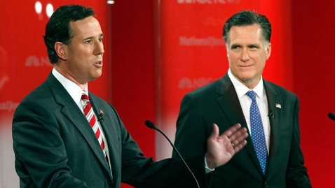 ap mitt romney santorum dm 120411 wblog Rick Santorum To Hold First Campaign Event For Mitt Romney On Saturday