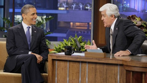ap obama ac 121024 wblog Obama Talks Donald Trump, Tigers With Jay Leno on Tonight Show