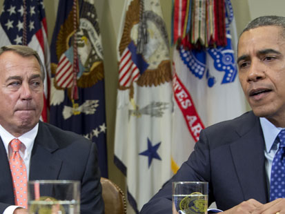 ap obama boehner lt 121124 main Could Outgoing Republicans Hold Keys to Fiscal Cliff?
