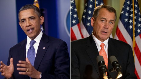 ap obama boehner split nt 121231 wblog Sequester Government Shutdown Looks Unlikely