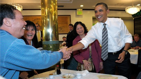 ap obama chinese restaurant nt 120216 wblog President Obama Does Dim Sum in San Francisco Chinatown