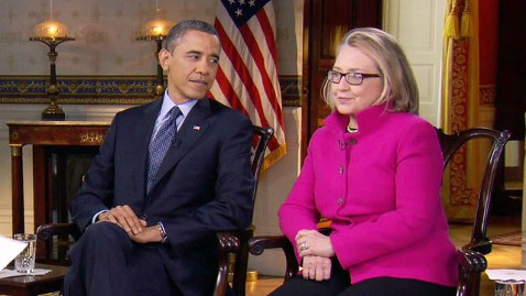 ap obama clinton 130127 wblog President Obama and Secretary Clinton on Syria: U.S. Needs to Be Careful