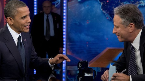 ap obama daily show lt 121018 wblog President Obama Defends Libya Response on Daily Show