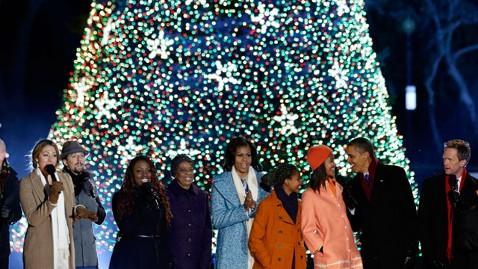 ap obama national christmas tree nt 121206 wblog Obama Lights National Christmas Tree