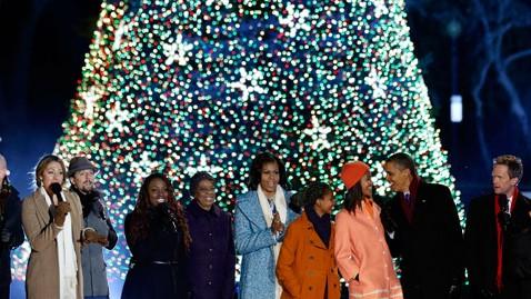 ap obama national christmas tree nt 121206 wblog Obama Lights National Christmas Tree
