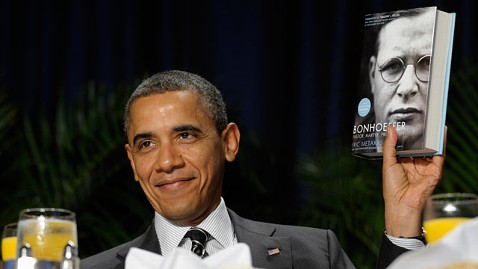 ap obama prayer breakfast jp 120202 wblog WWJD? Would He Support the Buffett Rule? President Obama Suggests Yes