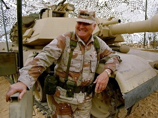 PHOTO: Gen. H. Norman Schwarzkopf stands at ease with his tank troops during Operation Desert Storm in Saudi Arabia, Jan. 12, 1991. Schwarzkopf died on Dec. 27, 2012 in Tampa, Fla. at the age of 78.