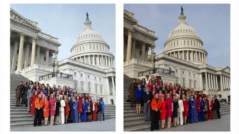 ap pelosi photoshop jef 130104 wblog Pelosi Not Fazed by Photoshopped Pic of Dem Women