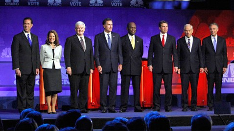 ap republicans debate ll 111109 wblog GOP Debate: Theres More to a Candidates Tie Than Meets the Eye