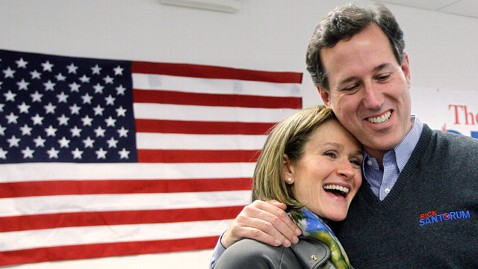 ap rick karen santorum ll 120229 wblog Why Social Issue Interrupted the Economy Election