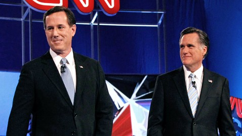 ap rick santorum mitt romney ll 120306 wblog Romney Campaign Says Their Opponents Would Need An Act Of God To Win GOP Nomination