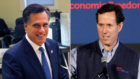 ap rick santorum mitt romney nt 120306 wblog In Illinois, Santorum Scrambles While Romney Looks For A Romp (The Note)