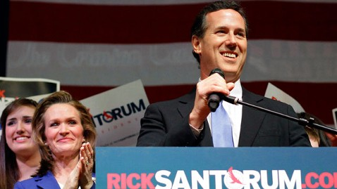 ap rick santorum speech nt 120306 wblog Santorum Says Long Primary Good For GOP