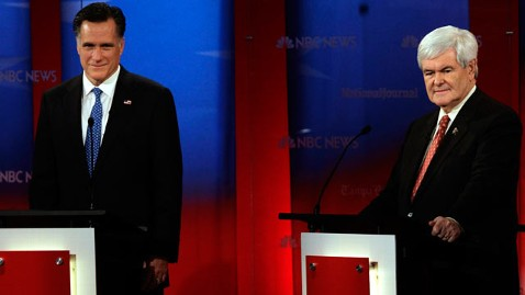 ap romney gingrich jef 120123 wblog Florida Poll: Newt Gingrich And Mitt Romney In Close Race In The Sunshine State