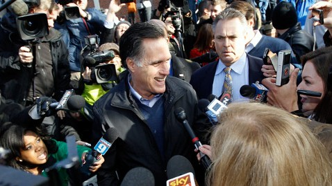 ap romney media frenzy jef 120110 wblog Mission Impossible: Mitt Romney Spends Primary Day at the Movies