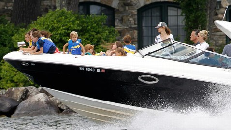 ap romney speed boat jef 120705 wblog Vacation 2012: Romneys Pledge vs. Obamas Childhood Greyhound Trip