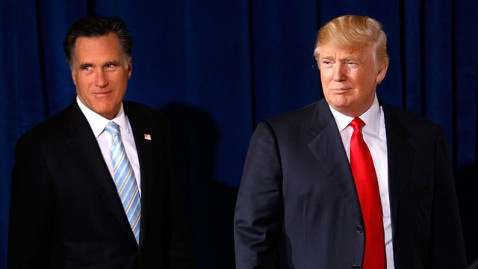 ap romney trump nt 120203 wblog Donald Trump Confidantes Welcome Mitt Romneys Loyalty