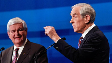 ap ron paul newt gingrich ll 120116 wblog Ron Paul Addresses Boos From South Carolina GOP Debate