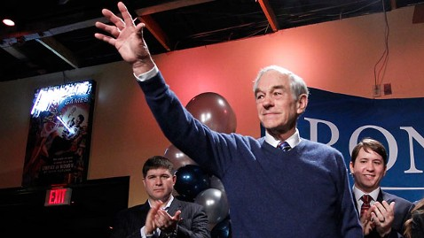 ap ron paul sc tk 120121 wblog Ron Paul Finishes Last in S.C., Tells Crowd Hes in for the Long, Hard Slog
