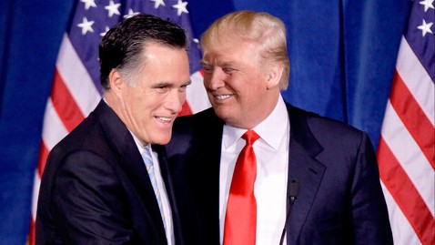 ap trump romney kb 120529 wblog The Curious Case Of Donald Trump (The Note)
