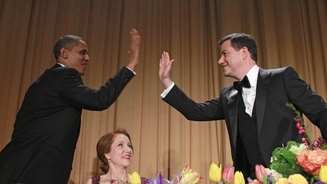 ap whcd obama jimmy kimmel lt 120429 wblog White House Correspondents Dinner: Top 10 Best Jokes from President Obama and Jimmy Kimmel
