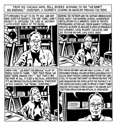 comic strip 4 In a Not Remotely Comic Strip, Bill Ayers Weighs In on What He Meant By We Didnt Do Enough to End Vietnam War