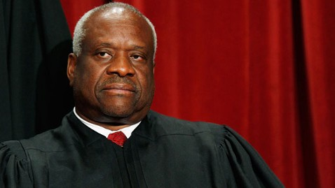 gty Clarence Thomas scotus thg 120327 wblog Mystery Solved: Justice Clarence Thomas Cracked Joke About Harvard Law School