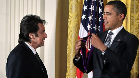 gty al pacino obama jef 120213 wblog Al Pacino Among Artists, Writers Honored at White House
