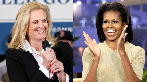 gty ann romney michelle dm 120425 wblog Obamas vs. the Romneys: Wives Jump to the Stump