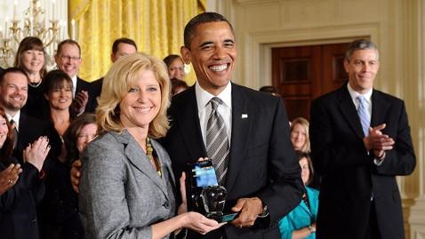 gty ap barack obama rebecca mieliwocki teacher of the year ll 120424 wblog Obama Honors National Teacher of The Year